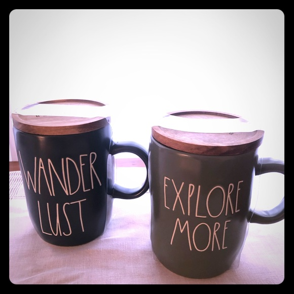 Rae Dunn explore more and wander lust mugs